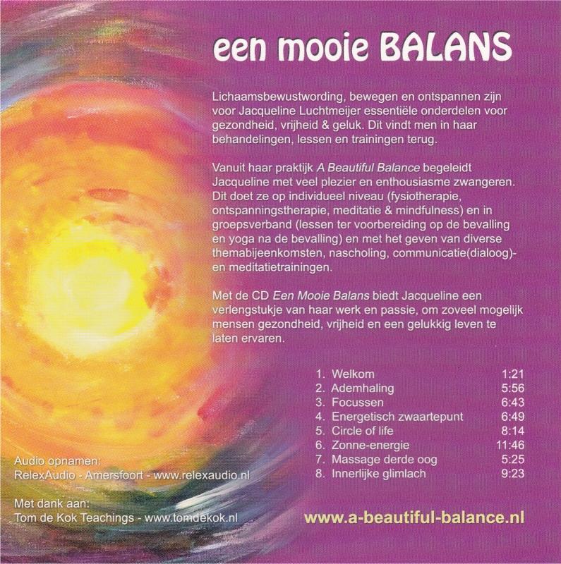 een mooie BALANS cd-hoes achterkant